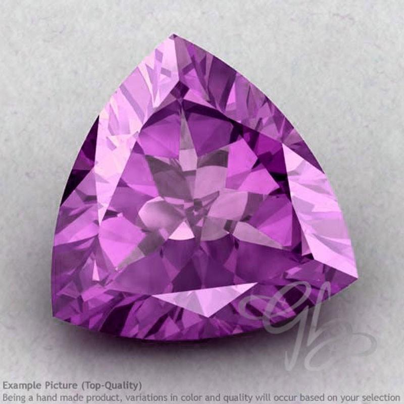 Brazilian Amethyst Trillion Shape Calibrated Gemstones