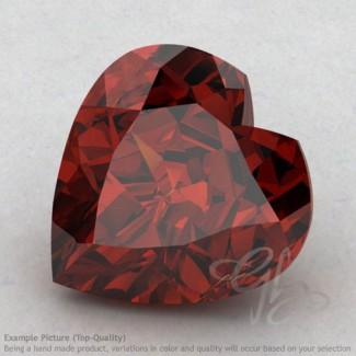 Garnet Heart Shape Calibrated Gemstones