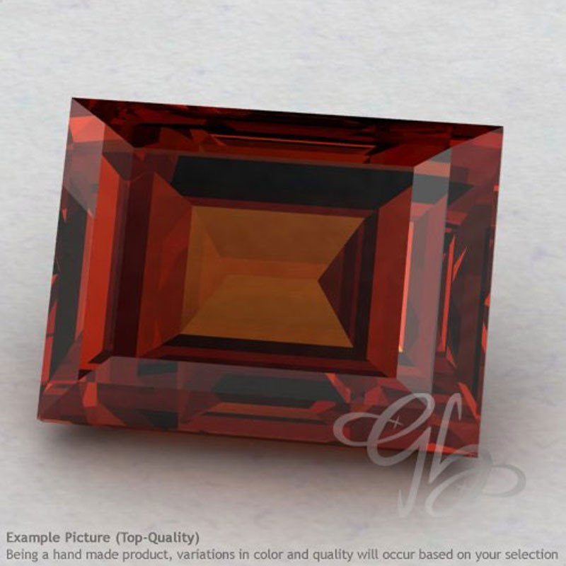 Garnet Baguette Shape Calibrated Gemstones