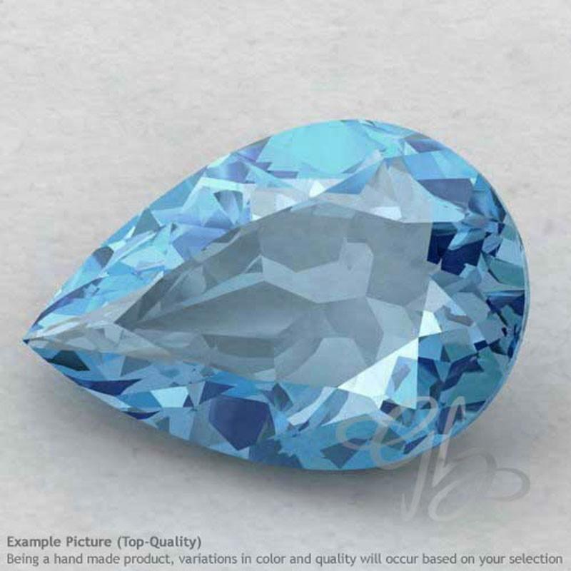Sky Blue Topaz Pear Shape Calibrated Gemstones