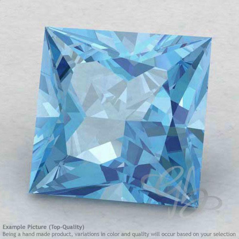 Sky Blue Topaz Square Shape Calibrated Gemstones