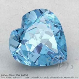 Sky Blue Topaz Heart Shape Calibrated Gemstones
