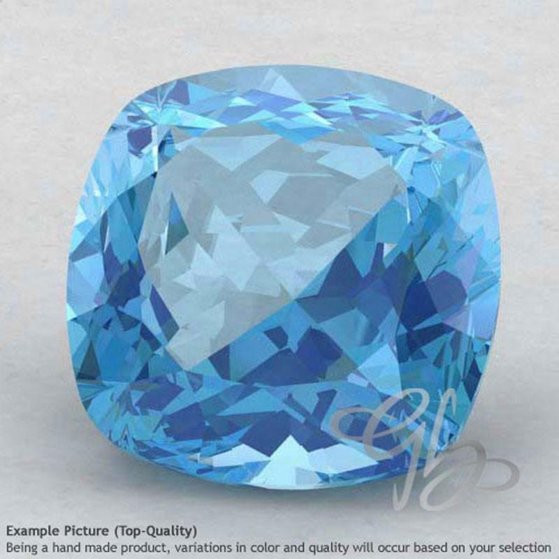 Sky Blue Topaz Square Cushion Shape Calibrated Gemstones