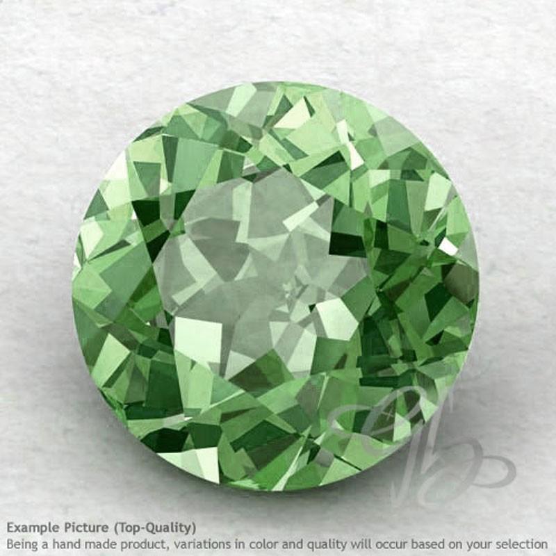 Green Amethyst Round Shape Calibrated Gemstones