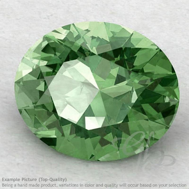 Green Amethyst Oval Shape Calibrated Gemstones