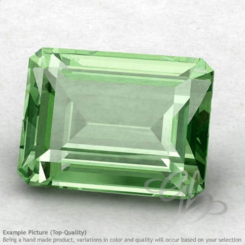 Green Amethyst Octagon Shape Calibrated Gemstones