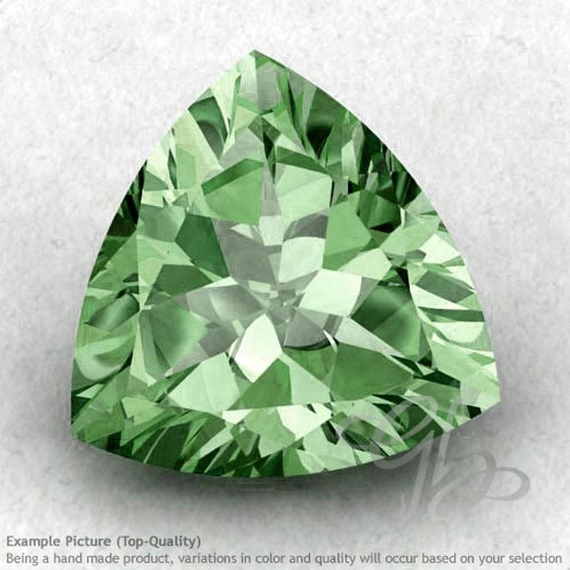 Green Amethyst Trillion Shape Calibrated Gemstones