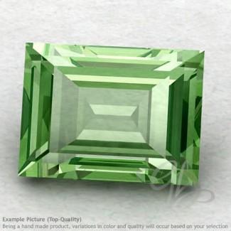 Green Amethyst Baguette Shape Calibrated Gemstones
