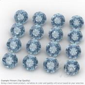 Aquamarine Round Shape Micro Gemstones