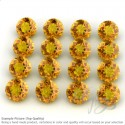 Citrine Round Shape Micro Gemstones