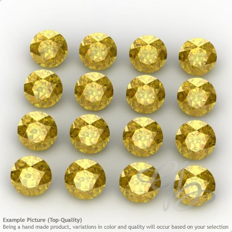 Lab Yellow Sapphire Round Shape Micro Gemstones