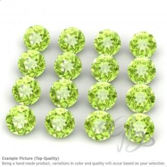 Peridot Round Shape Micro Gemstones