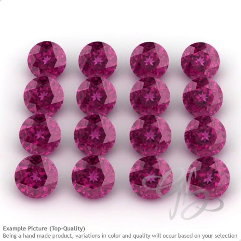 Rhodolite Garnet Round Shape Micro Gemstones