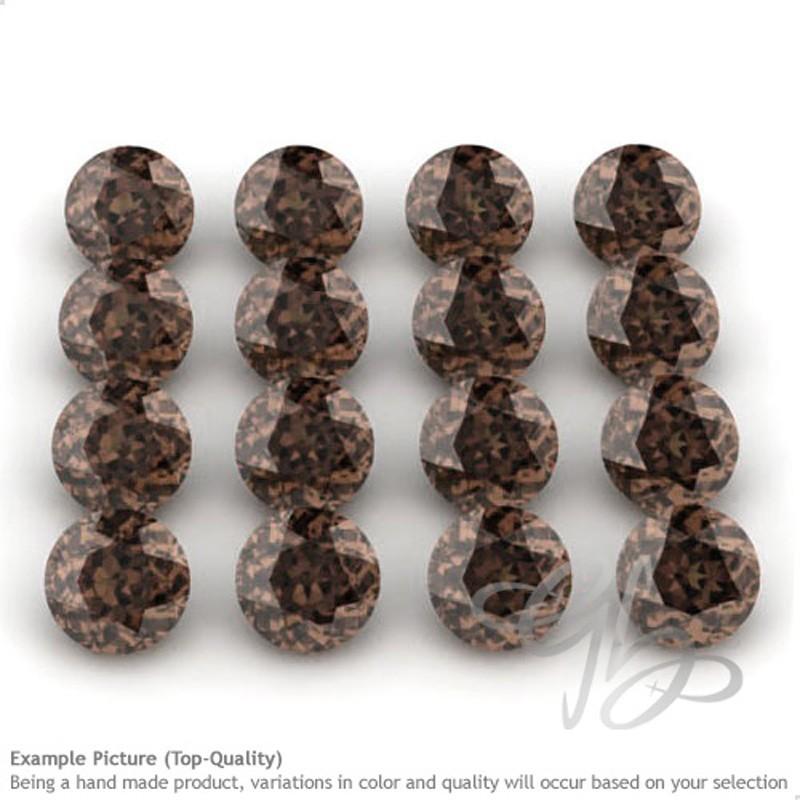 Smoky Quartz Round Shape Micro Gemstones