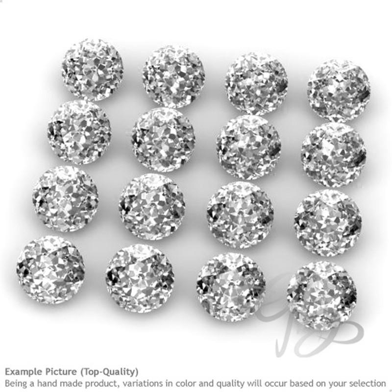 White Topaz Round Shape Micro Gemstones