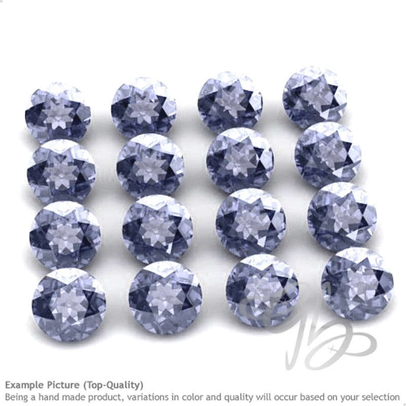 Iolite Round Shape Micro Gemstones