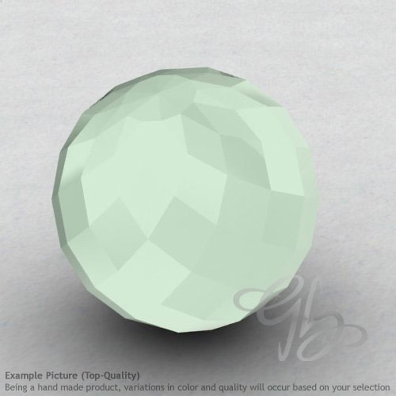 Aqua Chalcedony Round Shape Calibrated Beads