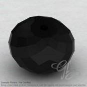 Black Onyx Rondelle Shape Calibrated Beads