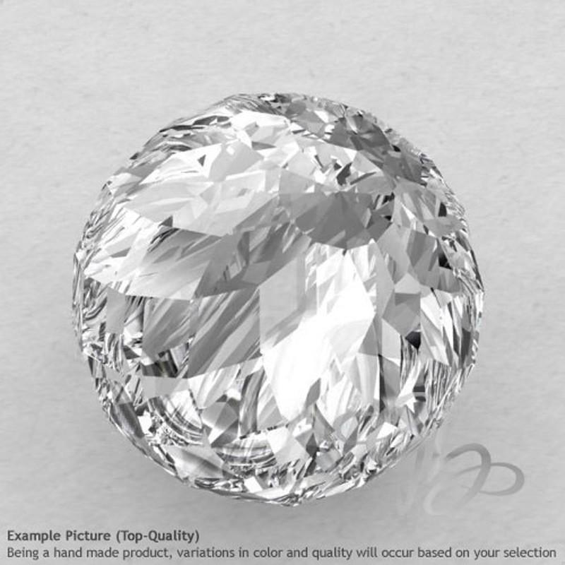 Crystal Quartz Round Shape Calibrated Beads