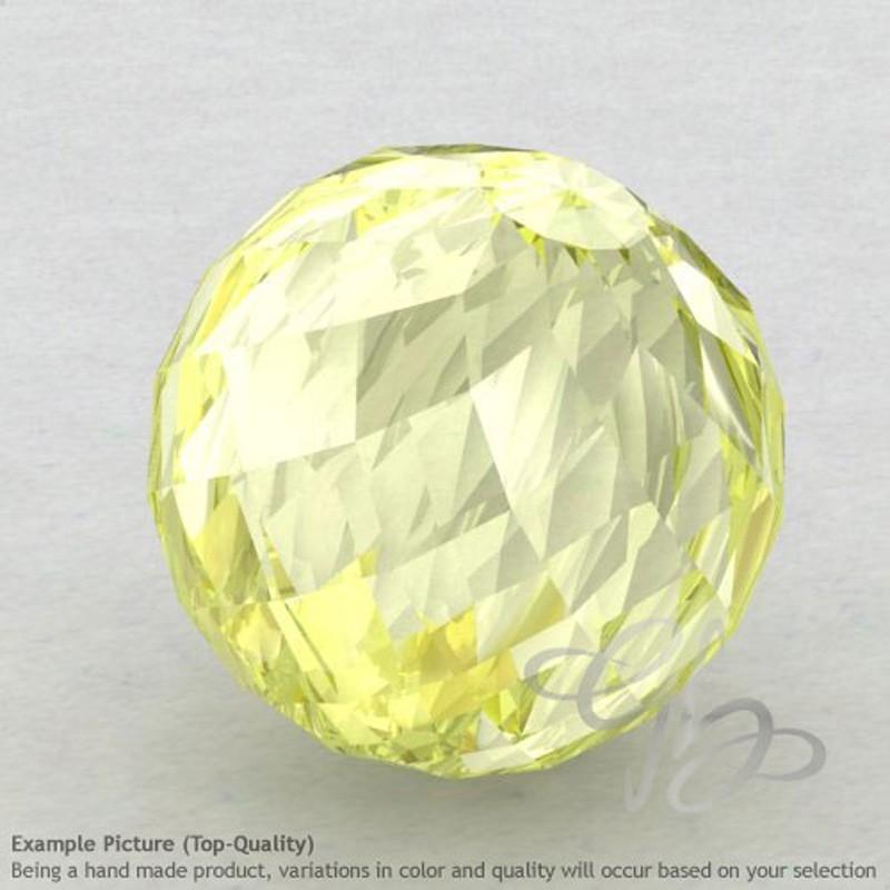 Lemon Quartz Round Shape Calibrated Beads