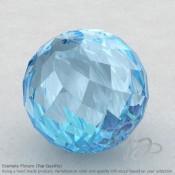 Sky Blue Topaz Round Shape Calibrated Beads