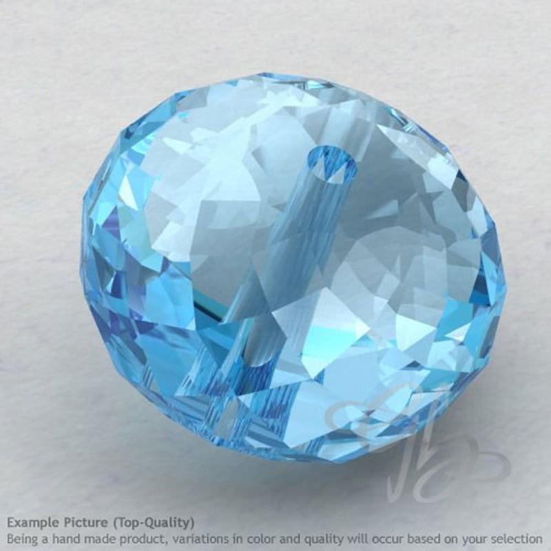 Sky Blue Topaz Rondelle Shape Calibrated Beads