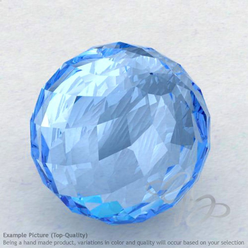 Swiss Blue Topaz Round Shape Calibrated Beads