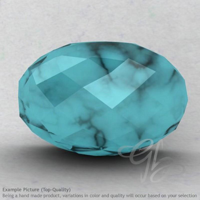 Turquoise Rondelle Shape Calibrated Beads