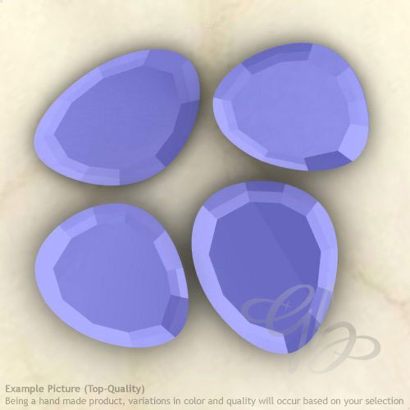 Blue Chalcedony Irregular Shape Rose-Cut Gemstones
