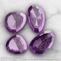 Brazilian Amethyst Irregular Shape Rose-Cut Gemstones