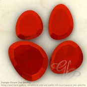 Carnelian Irregular Shape Rose-Cut Gemstones