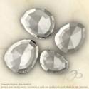 Crystal Quartz Irregular Shape Rose-Cut Gemstones