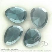 Hydro Aquamarine Irregular Shape Rose-Cut Gemstones