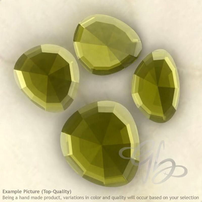 Hydro Beer Quart Irregular Shape Rose-Cut Gemstones