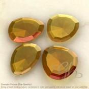 Hydro Citrine Quartz Irregular Shape Rose-Cut Gemstones