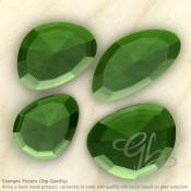 Hydro Green Tourmaline Quartz Irregular Shape Rose-Cut Gemstones