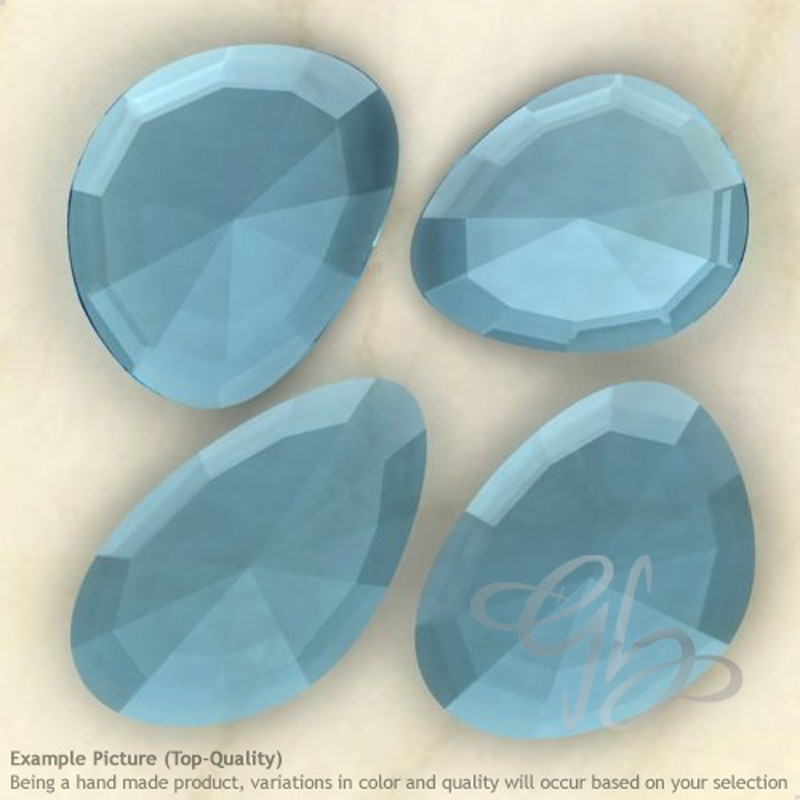 Hydro Swiss Blue Quartz Irregular Shape Rose-Cut Gemstones
