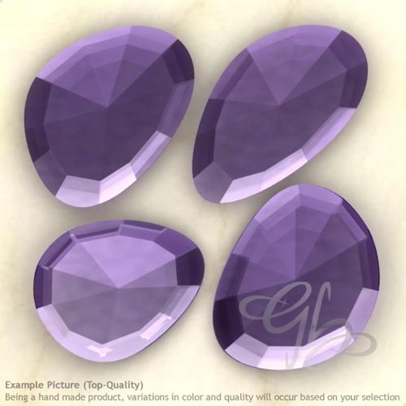Hydro Tanzanite Quartz Irregular Shape Rose-Cut Gemstones