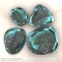 Labradorite Irregular Shape Rose-Cut Gemstones