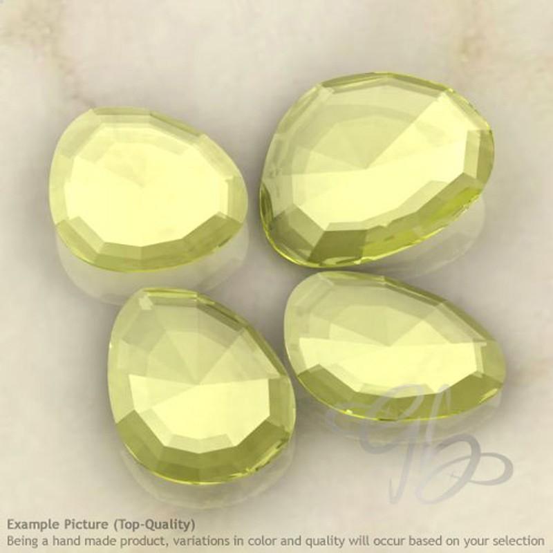 Lemon Quartz Irregular Shape Rose-Cut Gemstones