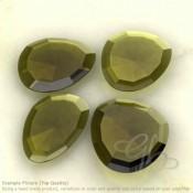 Olive Quartz Irregular Shape Rose-Cut Gemstones