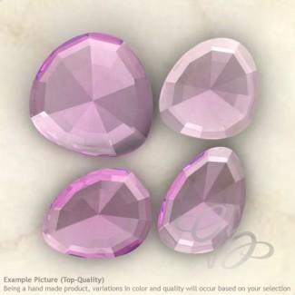 Pink Amethyst Irregular Shape Rose-Cut Gemstones