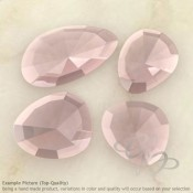 Rose Quartz Irregular Shape Rose-Cut Gemstones