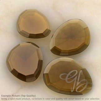 Whisky Quartz Irregular Shape Rose-Cut Gemstones