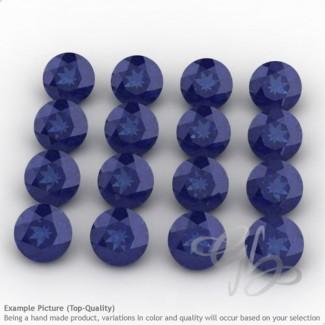 Blue Sapphire Round Shape Micro Gemstones