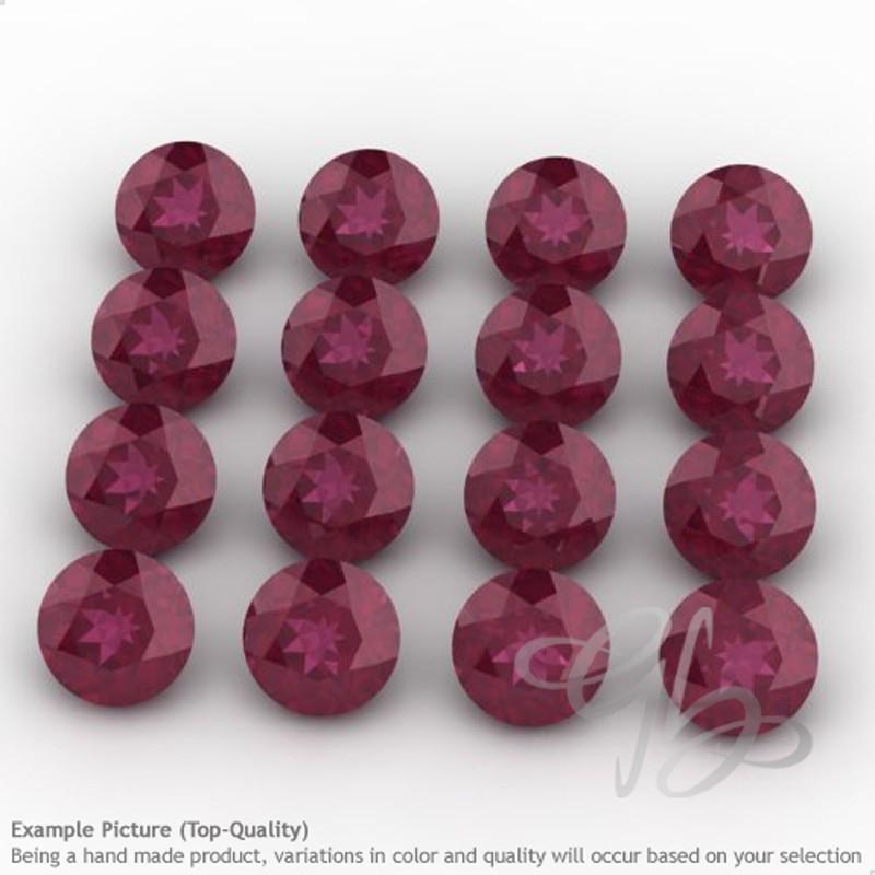 Ruby Round Shape Micro Gemstones