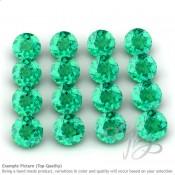 Emerald Round Shape Micro Gemstones