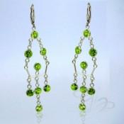 Peridot Green CZ 925 Sterling Silver Earrings