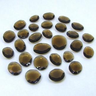 83.70 Cts. Smoky Quartz 11-17mm Irregular Shape Gemstone Parcel (28 Pcs.)