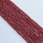 Garnet 3-3.5mm Micro Faceted Rondelle Shape Beads Strand